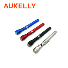 Aukelly Head Telescopic flashlight Flexible Portable Magnet Torch 3 LED Outdoor linternas Magnetic Pick Up Tool Lamp Light