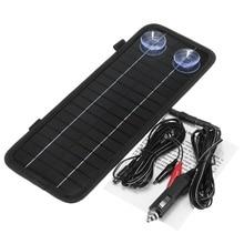 CLAITE 12v 4.5w 휴대용 Monocrystalline 태양 전지 패널 셀 모듈 시스템 자동차 보트 오토바이 유지 보수 전원 배터리 충전기