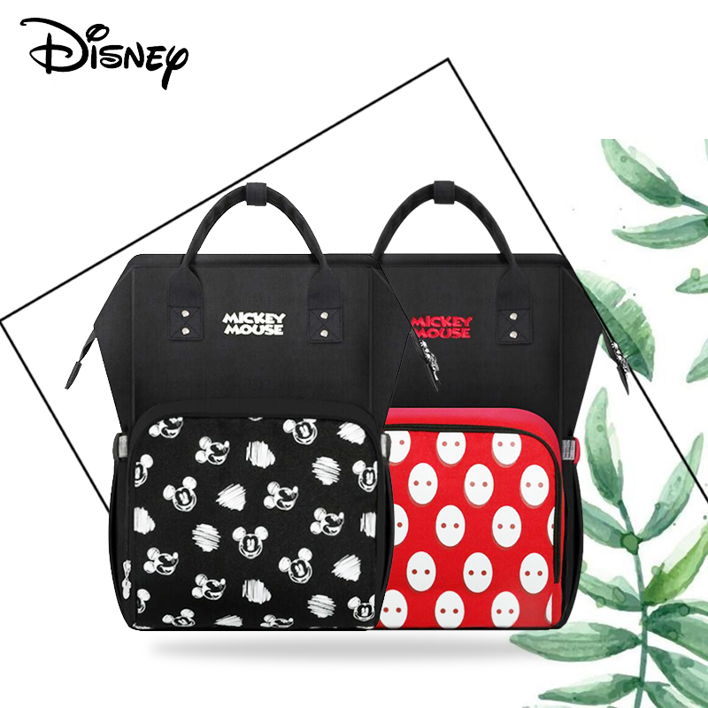 Disney Mummy Diaper Bag USB Large Capacity Waterproof Zipper Backpack Fashion Mummy Maternity Nappy Bags Baby Stroller Bag New