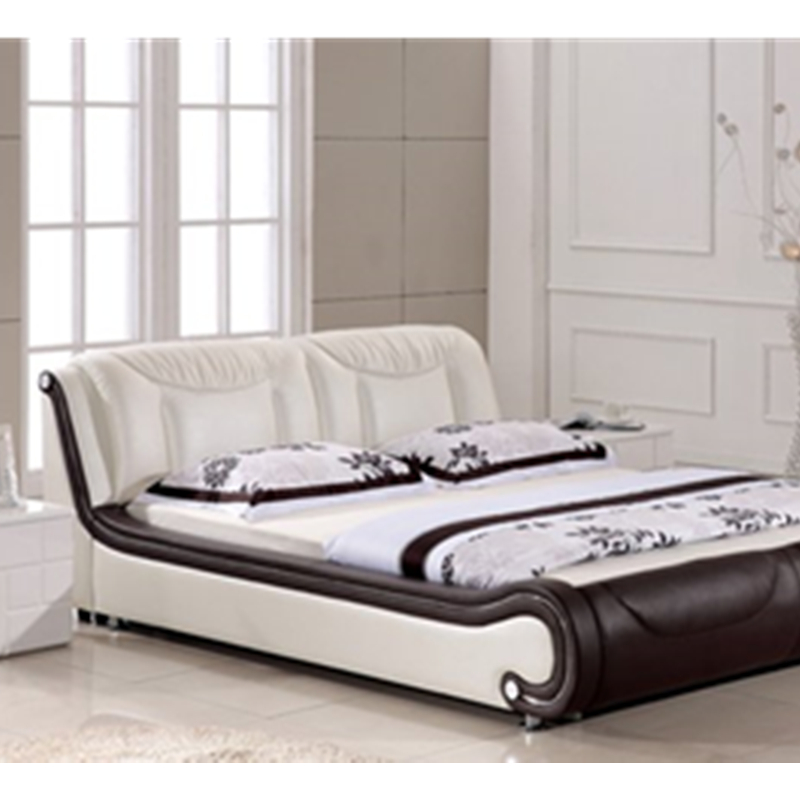 Real Genuine Leather Bed Frame Modern