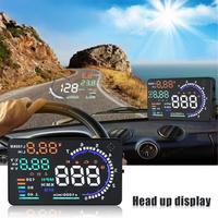 5.5 Large Screen Car HUD Head Up Display with OBD2 Interface Plug & Play A8 Car HUD Display
