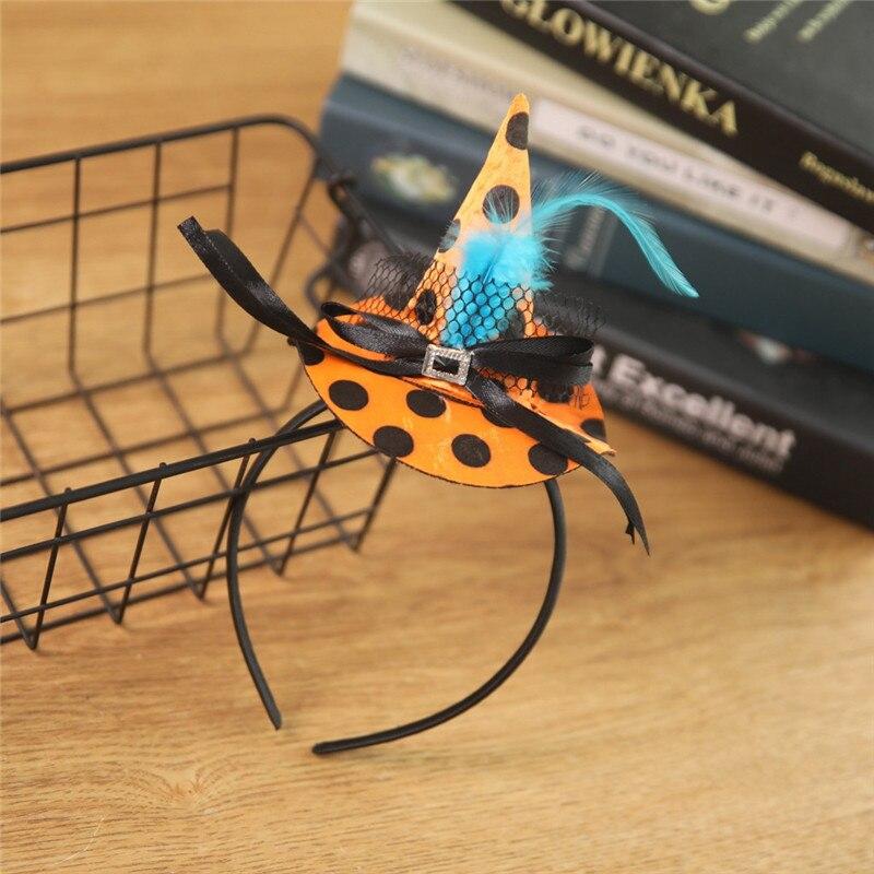 New Mini Witch Hat Headband Halloween Headbands For girls Fancy Dress Props Cosplay Party Gifts Headwear Kids 30Jul3114