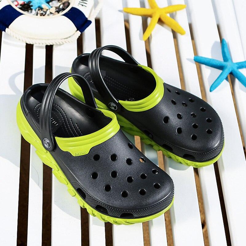 Crocse confortable hommes piscine sandales été en plein air chaussures de plage hommes sans lacet jardin sabots décontracté eau douche pantoufles intérieur