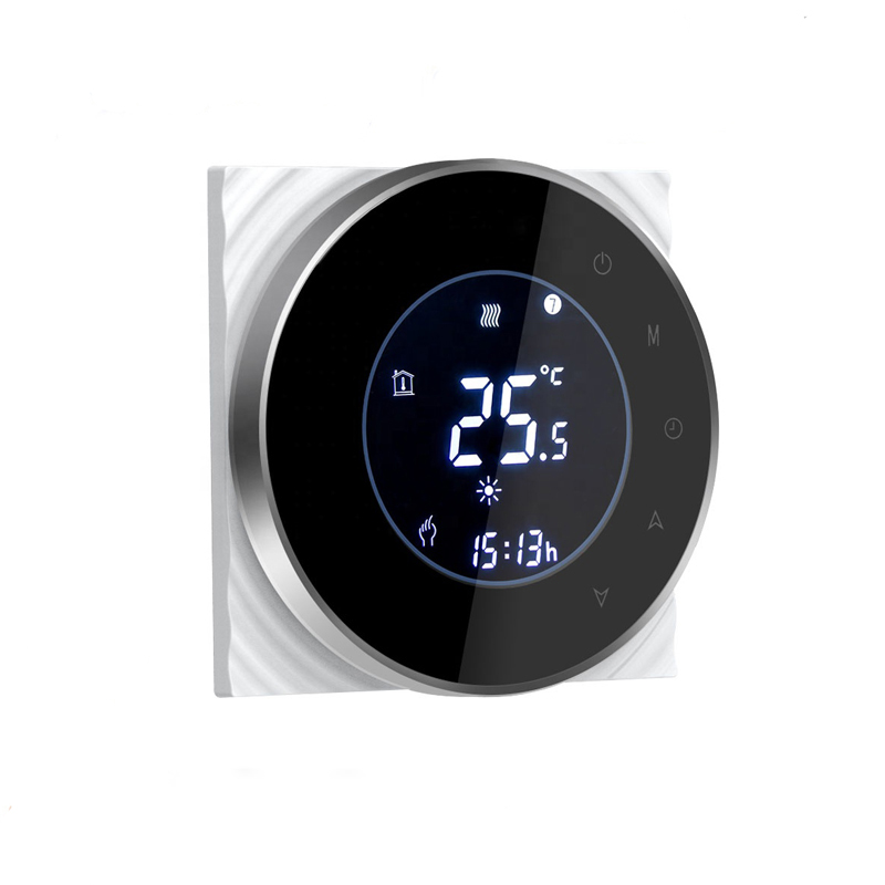 Wifi Smart Water/Gas Boiler Thermostat Tuya Remote Control Backlight Weekly Programmable LCD Touch Screen Temperature Controller 2