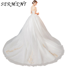 SERMENT Light Wedding Dress 2019 New Bride Long Tail Luxury Dream Tube Top Heben French Sen Super Fairy Simple