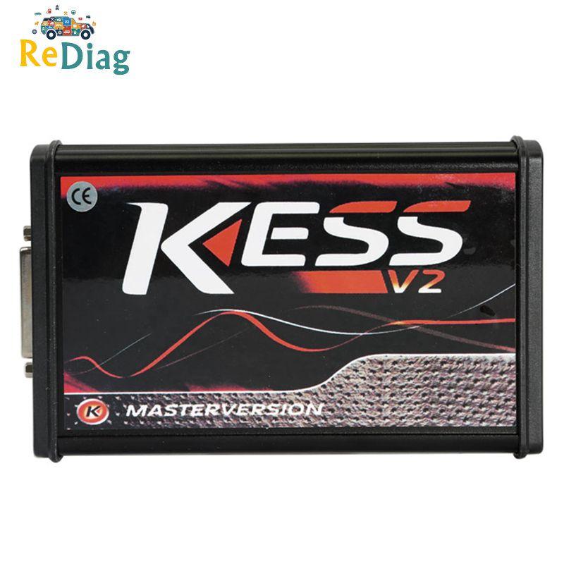 Wysokiej jakości KESS V2 5.017 ECU OBD2 zestaw do tuningu menedżera Auto Truck Programmer czerwony pcb wersja europejska V5.017 k-suite V2.53 ECU
