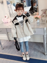 Spring Autumn Children Outerwear Jackets for Girls Coat with Hooded Coats Long Sleeves Kids