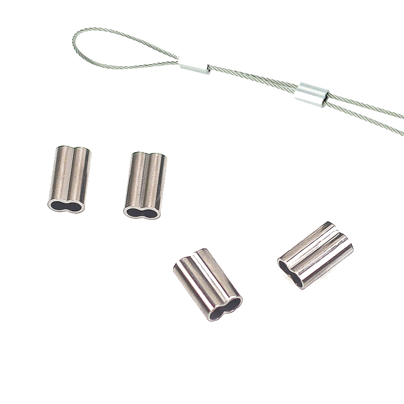 100pcs 6 Size Double Line Tubestainless Steel Fishing Line  Aluminum Crimp Sleeve Double Copper Tube Sea Fishing Accessories