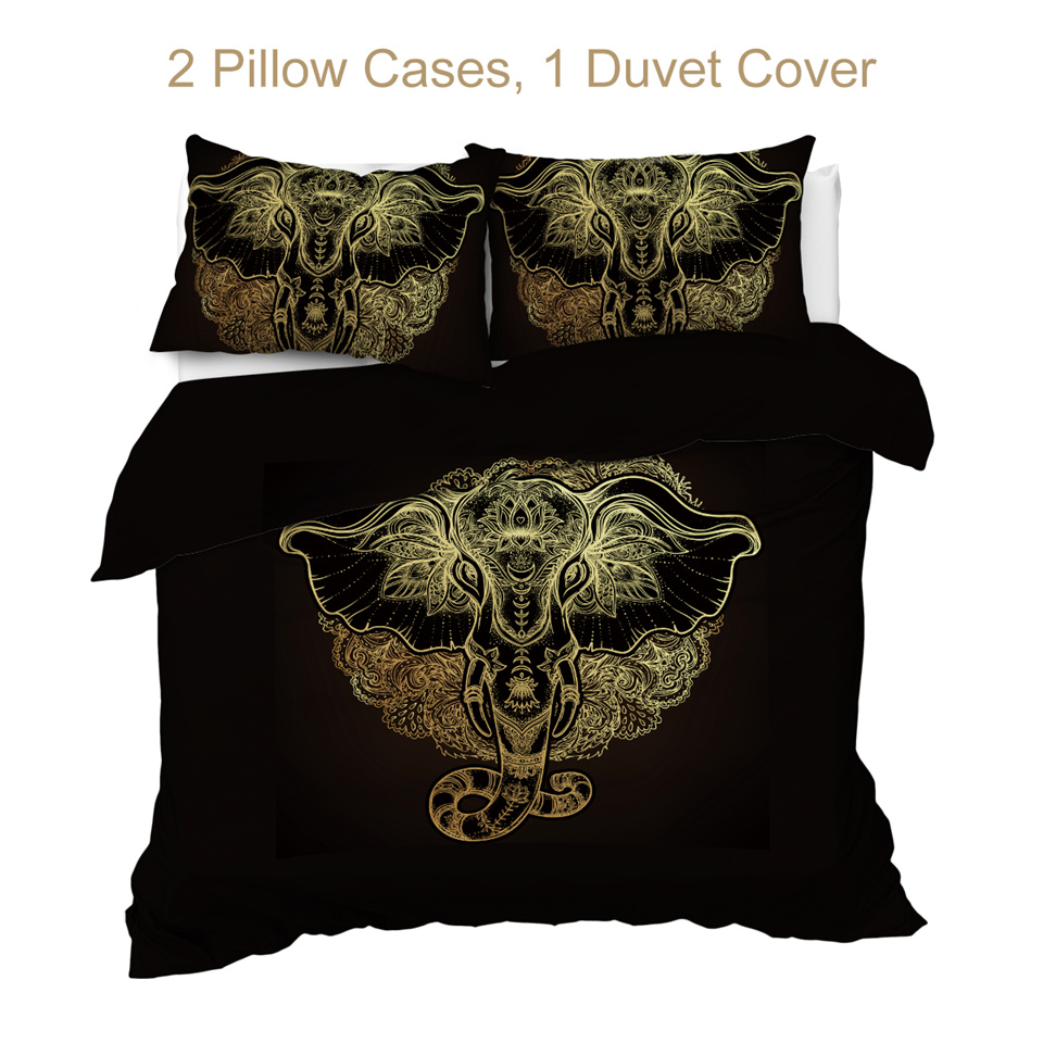 BeddingOutlet Tribal Elephant Bedding Set 1