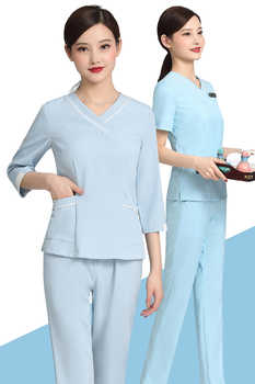 Foot bath technician health club massage suit maternity care cosmetologist uniform customization