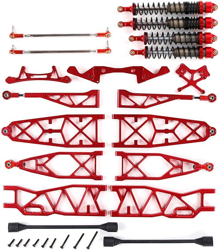 Rovan Baja MAX Super Extended CNC Aluminum Suspension Arm Kit HPI Baja 5B 5T Red