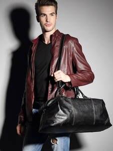 Flanker мужская дорожная сумка из натуральной кожи модное путешествие на выходные сумки из мягкой коровьей кожи большая сумка на плечо большая...