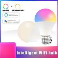 Intelligente HA CONDOTTO LA Luce Bulb15W E27/B22 RGB + CCT WiFi Multicolore Della Luce Della Lampadina di Lavoro Con Alexa Eco Google Casa che cambia La Lampadina Vita Intelligente