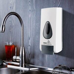 Image 2 - 500ml Foam Soap Dispenser Wall Mount Hand Sanitizer Dispensers ABS Plastic Large Capacity Washroom Toilet Bathroom Accessories