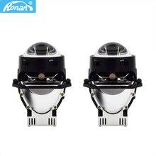 RONAN 3.0 인치 2pcs Bi LED 드라이버 내장 5500K 2800LM 58W 범용 자동차 헤드 라이트 업그레이드 용 프로젝터 렌즈 개조