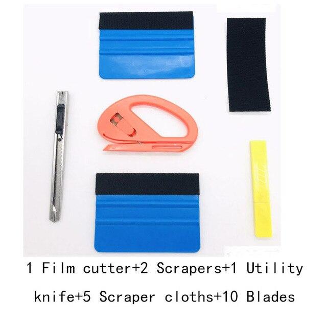 6 pz/set Auto vinile avvolgere strumenti di pellicola Auto Kit di strumenti di pellicola Auto abbigliamento Auto sole pellicola lanugine raschietto pellicola taglio coltello Car Styling