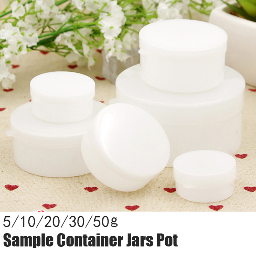 10 Pcs Refillable Bottles Plastic Empty Plastic Cosmetic Makeup Sample Container Jars Travel Face Cream Container