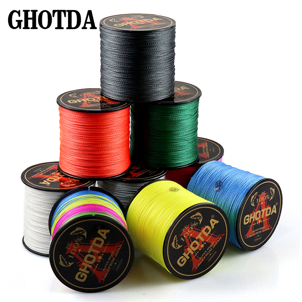 500M 4 Strands Multi-filament Fish Rope Cord PE Braided Fishing Lines Wire for All Fishing