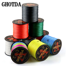 Wire Fishing-Lines Braided Multi-Filament 4-Strands PE 500M Cord