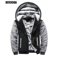 Winter Version Men Warm Thicken Skoda Sweatshirt Hoodies Collar Coat for Male Warm Thicken Jackets Plus European Size
