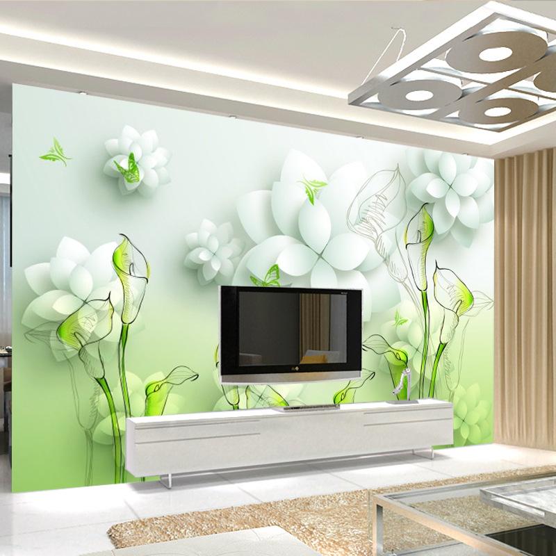 Modern Minimalist 3D Large TV Backdrop Mural Seamless Wall Cloth Sofa Living Room Film And Television Wall Cloth