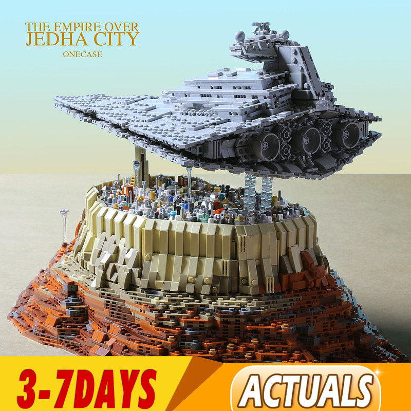 5098  PCS IN Stock DHL  MOC-18916 Star Wars The Empire Over Jedha City Building Block Bricks Toy for Christmas Gift 18916 05027 1