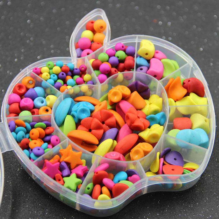 Solid Color Mo Sha Zhu CHILDREN'S Ornaments Handmade DIY Gift Box Loose Beads Early Education Training Educational Toy