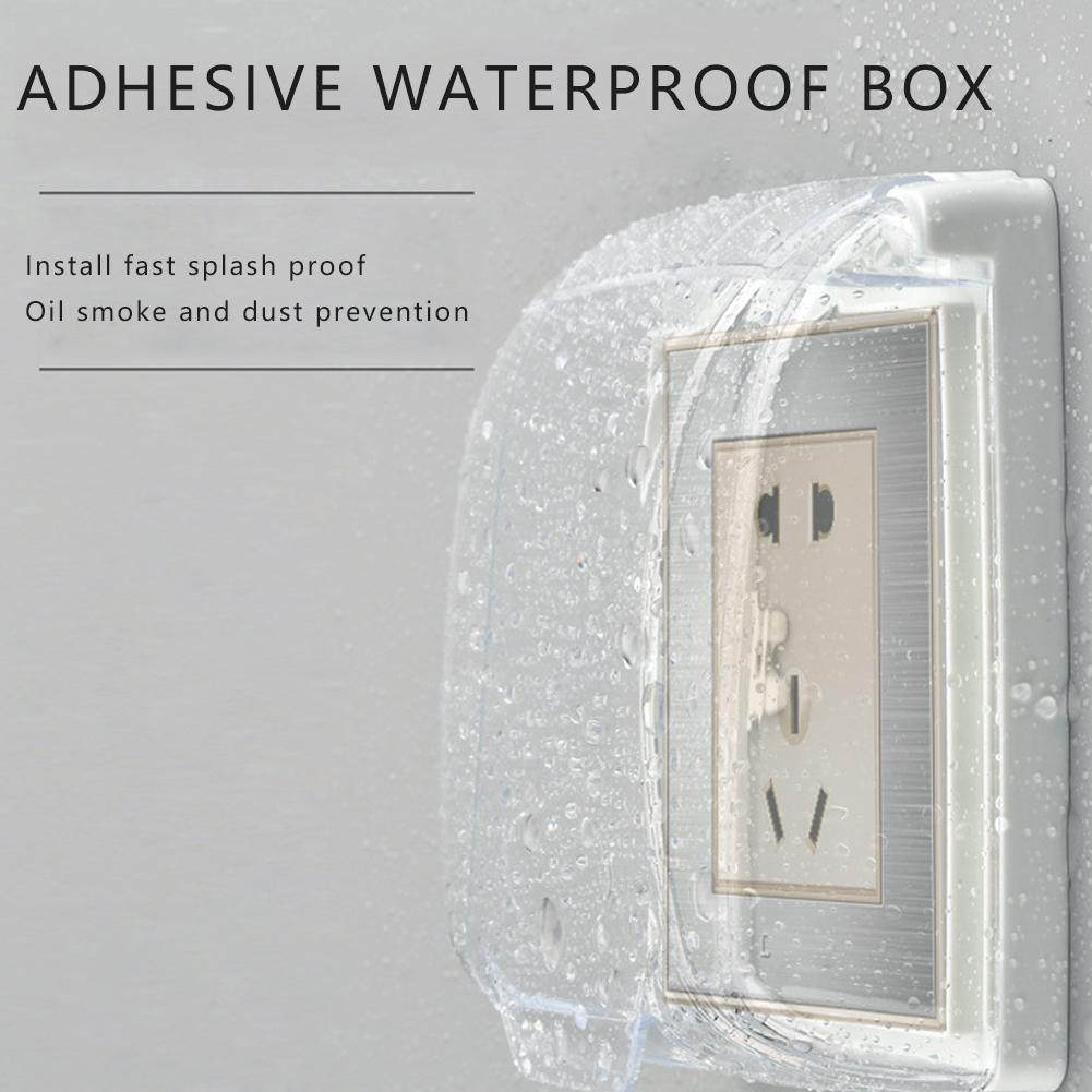 NEW Plastic Wall Switch Waterproof Cover Box Wall Light Flip Doorbell Cap Kitchen Accessory Cover Socket Bathroom Panel Cle X4S2