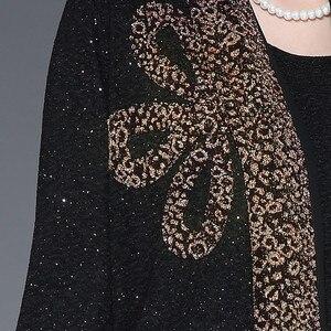 Image 5 - Longue robe à imprimé rétro pour mères, tenue élégante, tenue de soirée, grande taille, hiver, L 4XL