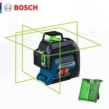 Bosch nível do laser 12-linhas de nivelamento do laser verde GLL3-60XG linha de projeção para o nível do laser da decoração da casa ao ar livre disponível
