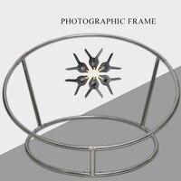 Новый реквизит для фотосъемки новорожденных beanbag позирует стальную рамку Bebe аксессуары фотография позирует гнездо круглая рамка + 6 шт. зажи...
