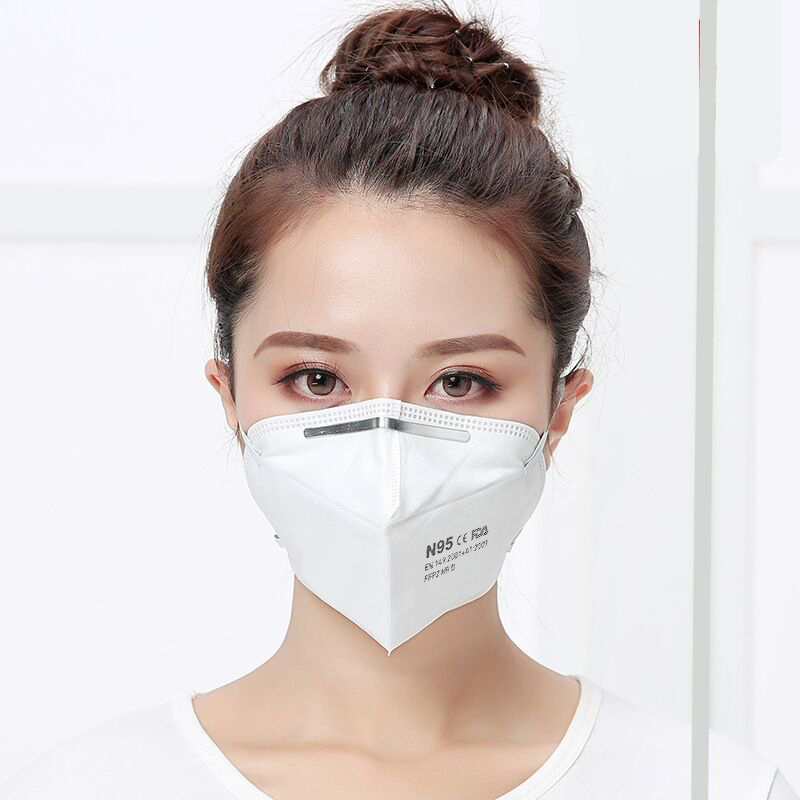 Máscara facial protectora antipolvo antibacteriana filtración al 95%