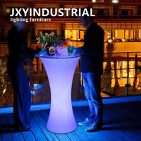Mejor JXY D60 H110 colorida mesa redonda de cóctel LED para Estación de café fiesta Hotel Bar