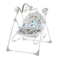 Columpio electrónico para bebé, cuna, colgante de juguete, reproducción de música, cuna para dormir para bebé recién nacido.