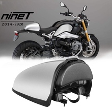 R9T Motorcycle Rear Pillion Seat Cowl Cover Hump Trunk Storage Box Fairing Tail for BMW R Nine T 2014 2020 (Silver)