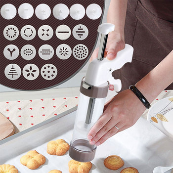 Cookie Press Kit - Cookie Press Making Gun Biscuits Cake Mold Cookie Press Maker Machine Dessert Decoration кондитерские шприцы наборы clovins cookie 3435