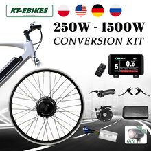 Ebike-Kit Hub-Motor Wheel LED Electric Bicycle Brushless-Gear 48v 1500w 1000W 750W 36v 250w