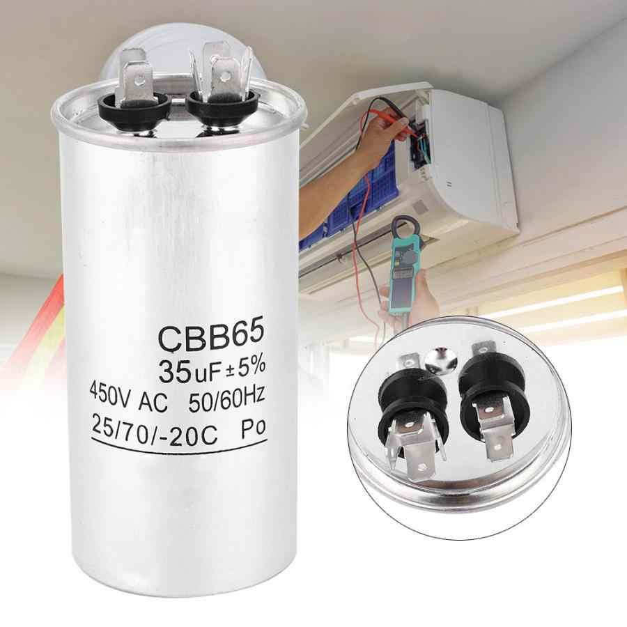 1Pc CBB65A-1 AC 450V 45uF Lavadora De Aire Acondicionado Condensador de Funcionamiento cilíndrico