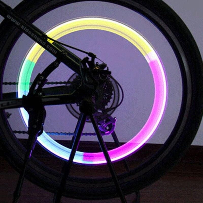 Велосипедный светильник без батареи горный MTB дорожный велосипед светильник светодиоды на шину клапан колпачки колеса спицы светодиодный люминесцентный светильник|Велосипедная фара|   | АлиЭкспресс