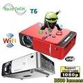 Светодиодный проектор UNIC T6, Full HD, 1080P, 3500 люмен, домашний кинотеатр, проектор Android, Wi-Fi, опционально проектор, USB, VGA, видеокинотеатр