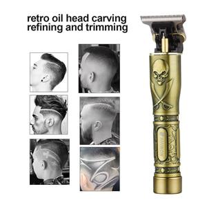 Image 3 - USB rechargeable ceramic Trimmer barber Hair Clipper Machine hair cutting Beard Trimmer Hair Men haircut Styling tool