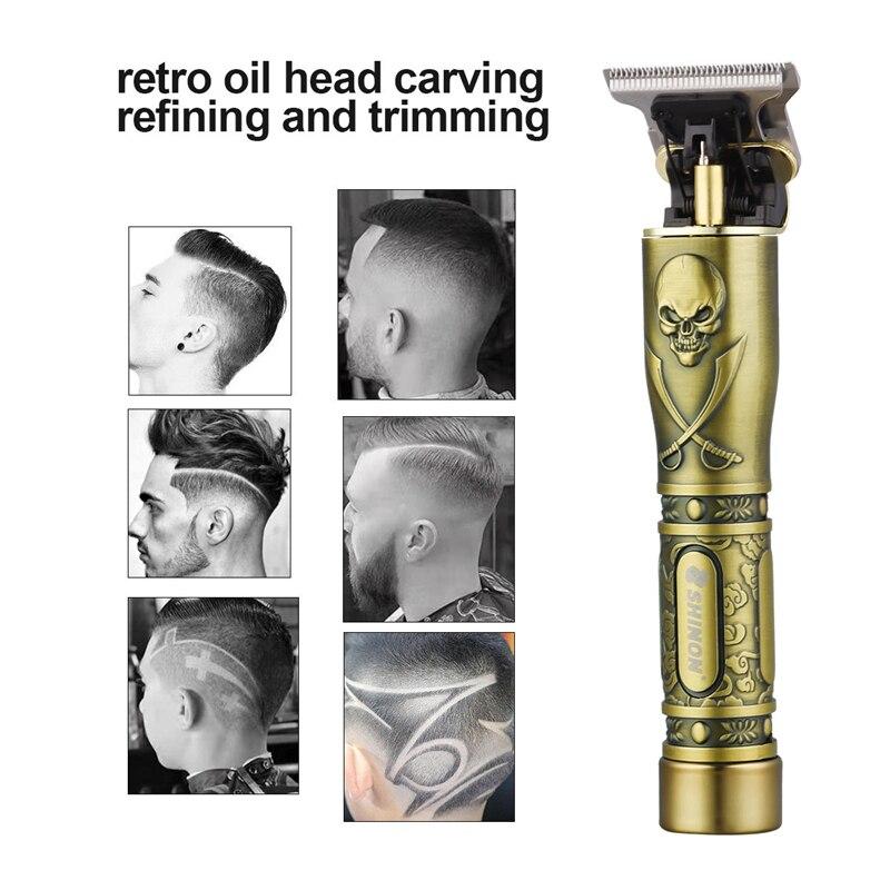 USB Перезаряжаемый Керамический триммер, машинка для стрижки волос, машинка для стрижки волос, триммер для бороды, мужской инструмент для стрижки волос
