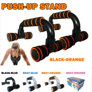 2pcs H I-shaped ABS Fitness Push Up Bar Push-Ups Stands Bars Tool For Fitness Chest Training Exercise Sponge Hand Grip Trainer