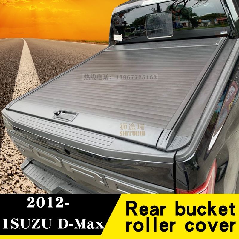 For ISUZU D-Max   [2012-today] Pickup Modified Manual Roller Blinds Dmax Crew Cab Rear Cover Sliding Flat Cover