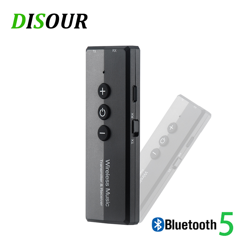 Bluetooth 5.0 Transmitter Receiver 3 In 1 EDR Audio Wireless Adapter Dongle Mini 3.5mm AUX For TV PC Car Bluetooth Stereo HIFI