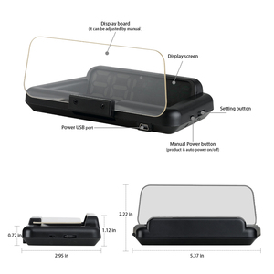 Image 5 - C500 HUDOBD2 Head Up Display Car Speedometer Windshield Projector With Reflection Board Mirror OBD2 Gauge Diagnostic Tool