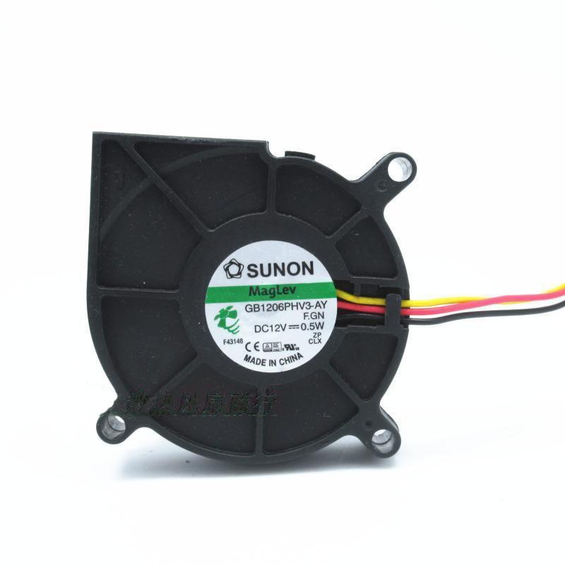Sunon GB1206PHV3-AY Maglev Luchtbevochtiger Centrifugaal Ventilator Industriële Blower Projector Blower Centrifugaal Ventilator DC12v 0.5W Met 3pin