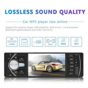 Car MP5 Player USB AUX 4.1 Inch Bluetooth DC12V Car MP5 Support SD Card Multimedia Player Automotive MP3 image