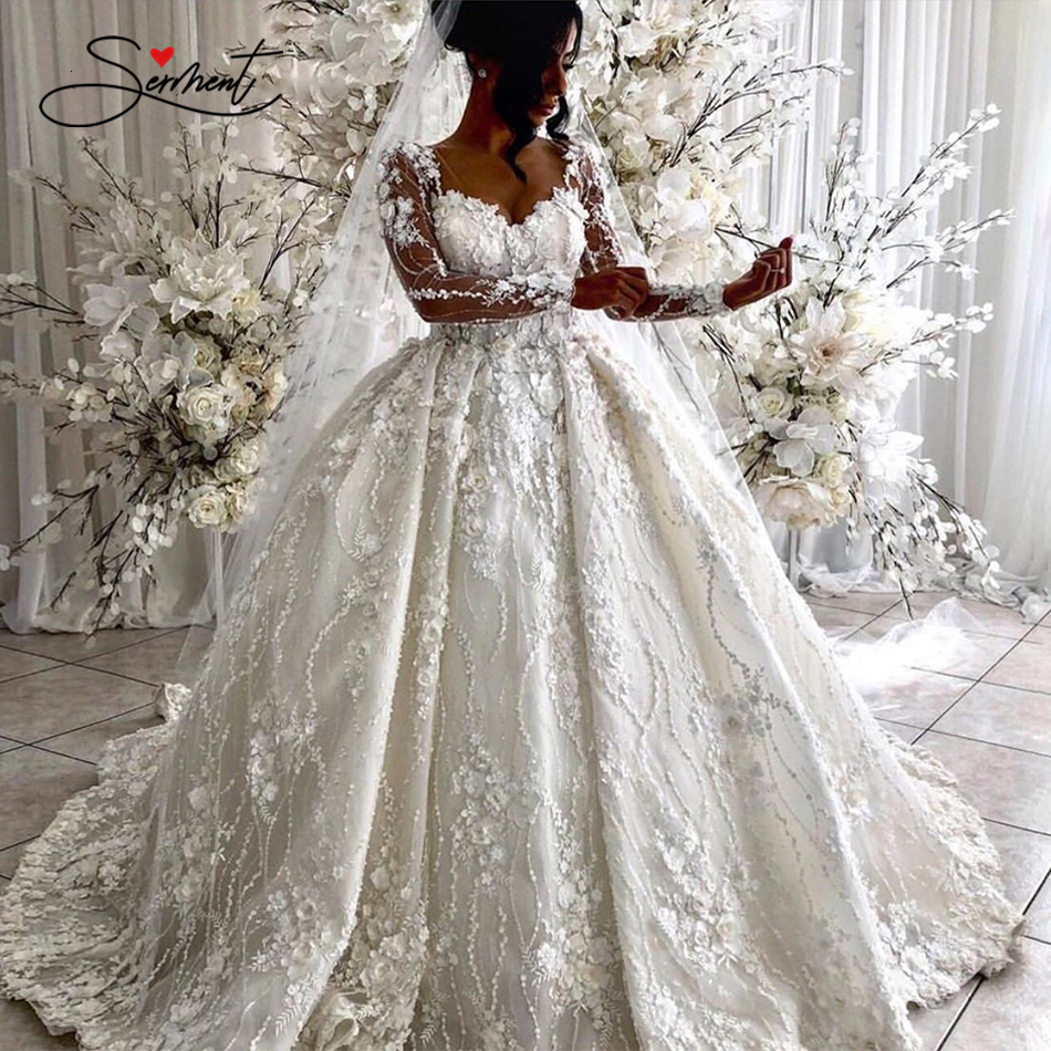 Decal Dress Sexy Wedding  Dress Tailor BAZIIINGAAA Made Card Neck V Backless 3D Support Luxury Shoulder Wedding Bride