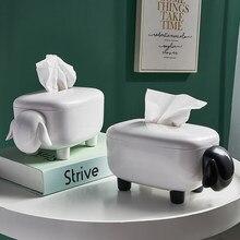 Boîte à mouchoirs en forme de mouton, accessoires de décoration pour la maison, salle à manger, chambre à coucher, salon, cuisine, décoration économique et pratique